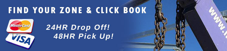 book a bin find your service area for bin drop off